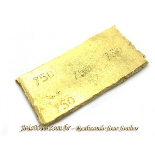 O9115-70007 Barra de Ouro 18k750 com 1,0gr