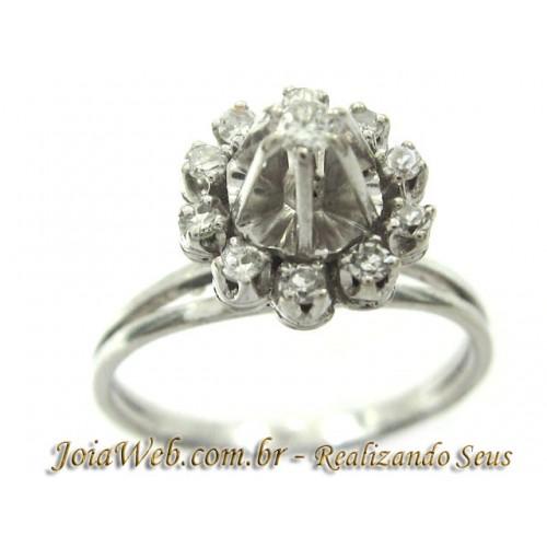 A8980-72656 Belíssimo Chuveiro Relevo  Ouro Branco Diamantes