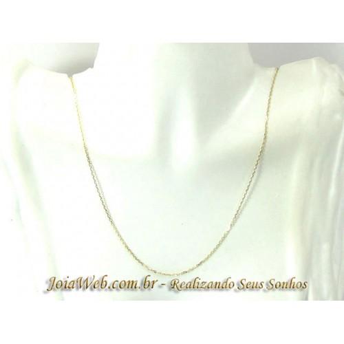 C8990-00404 Corrente de Ouro Elos Cartier Ovalados 45cm