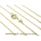 C8990-00407 Corrente de Ouro Elos Cartier Retangular 45cm
